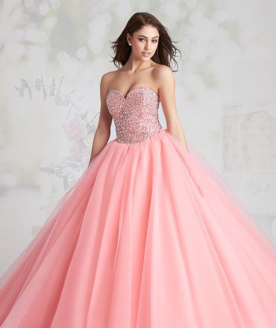 Vestido para quiceañera color rosa